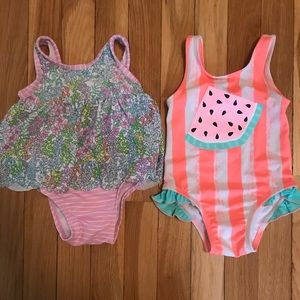 Gently worn 12 Month bathing suits